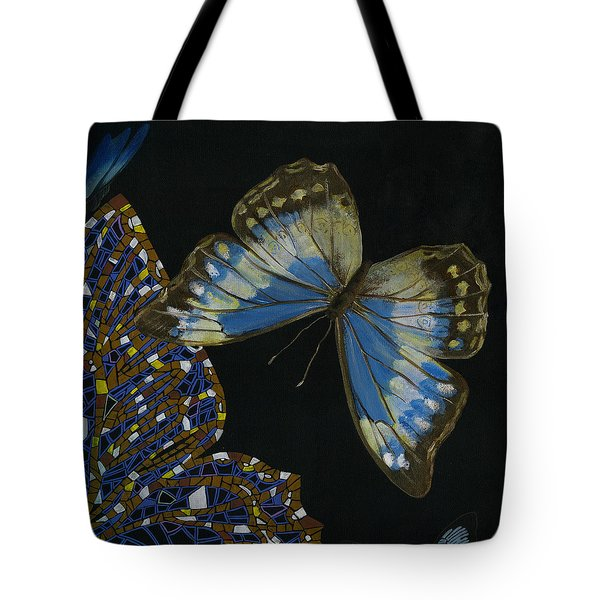 Elena Yakubovich - Butterfly 2x2 Top Right Corner Tote Bag