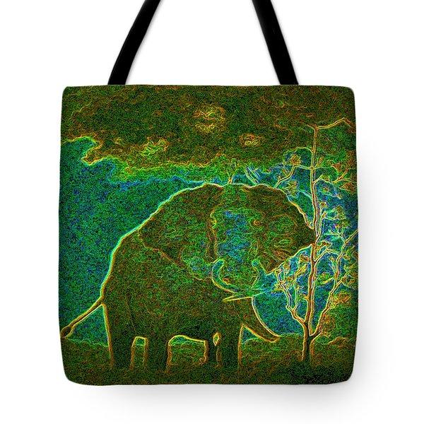 Elephant Abstract Tote Bag by John Stuart Webbstock