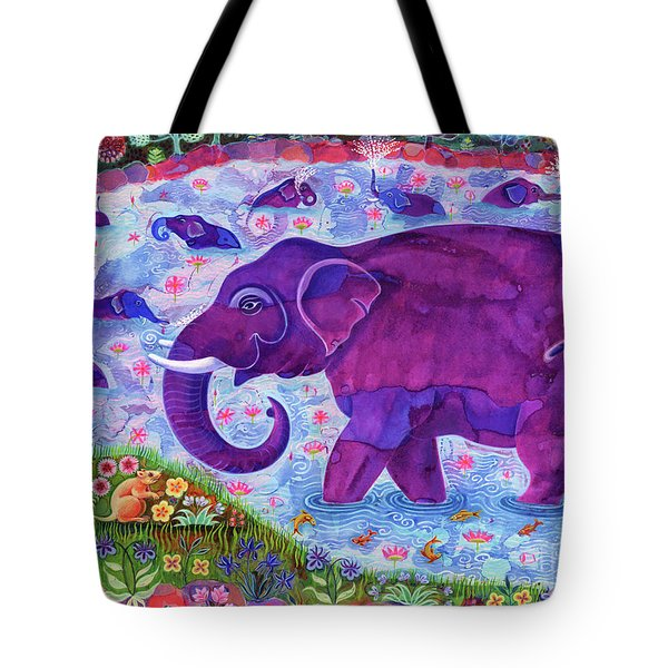 Elephant And Mice Tote Bag by Jane Tattersfield
