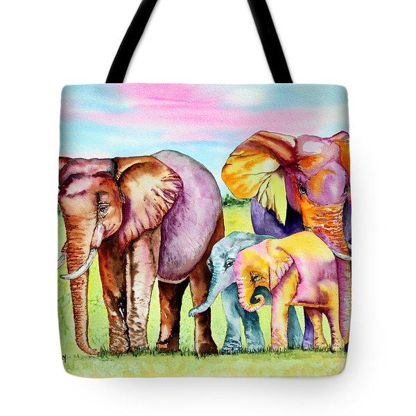 Elephant Aura Tote Bag