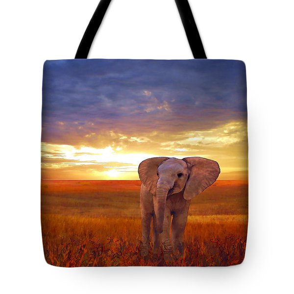 Elephant Baby Tote Bag
