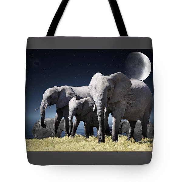 Elephant Bath Time Tote Bag by Ericamaxine Price