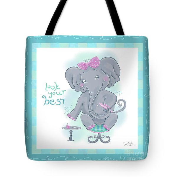 Elephant Bath Time Look Your Best Tote Bag