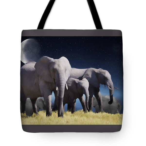 Elephant Bath Time Painting Tote Bag by Ericamaxine Price