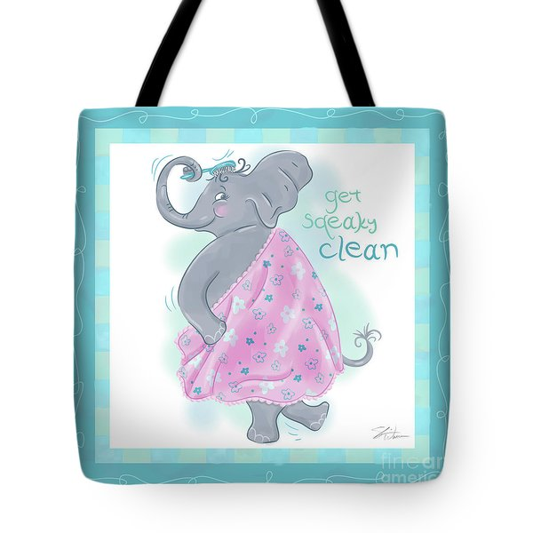 Elephant Bath Time Squeaky Clean Tote Bag