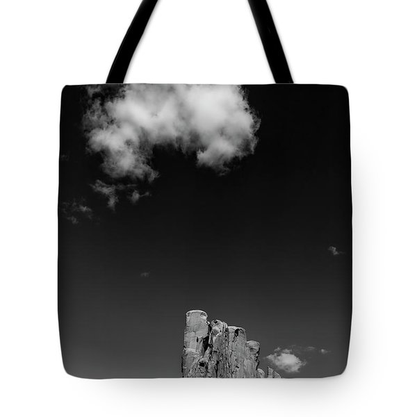 Elephant Butte In Black And White Tote Bag