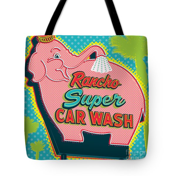 Elephant Car Wash - Rancho Mirage - Palm Springs Tote Bag