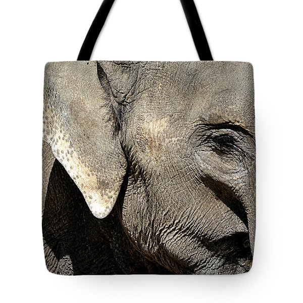 Elephant Close Up Tote Bag