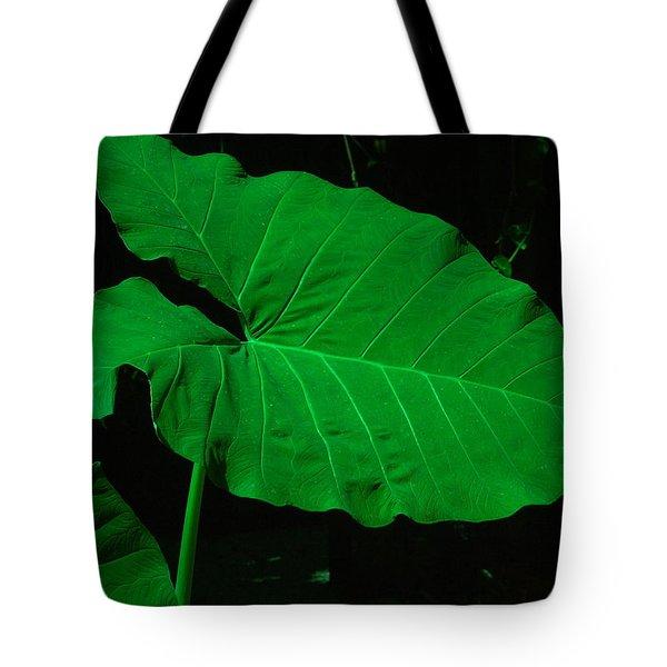 Elephant Ear Green Tote Bag