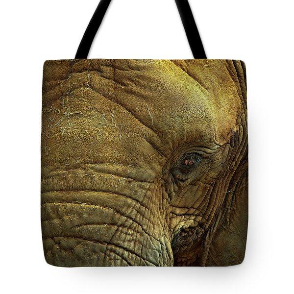Elephant Eye Tote Bag