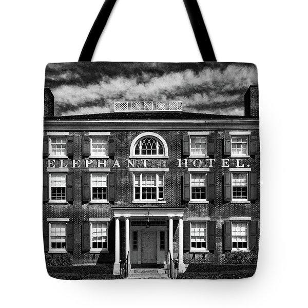 Elephant Hotel Tote Bag