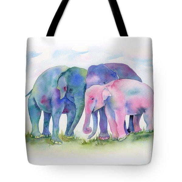 Elephant Hug Tote Bag