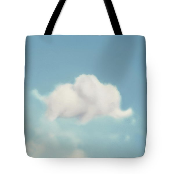Tote Bag featuring the photograph Elephant In The Sky - Square Format by Amy Tyler