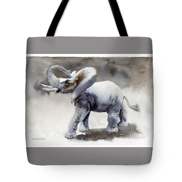 Elephant Light Study  Tote Bag by Amy Kirkpatrick