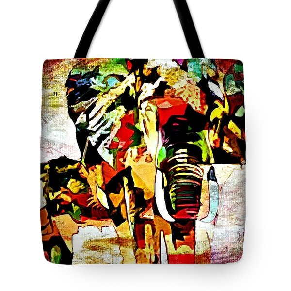 Elephant Love Tote Bag by Lynda Payton