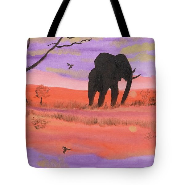 Elephant Spotlight Tote Bag