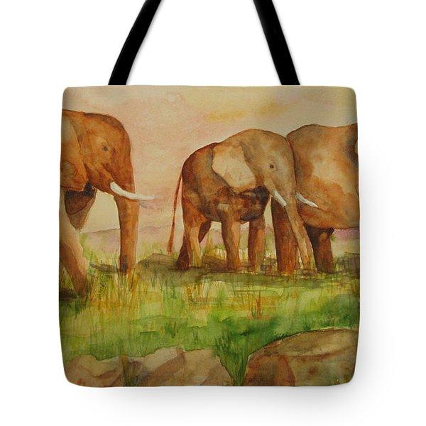 Elephant Parade Tote Bag by Vicki  Housel