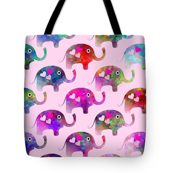 Elephant Party Tote Bag by Kathleen Sartoris