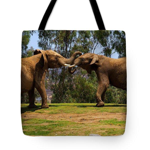 Elephant Play 3 Tote Bag