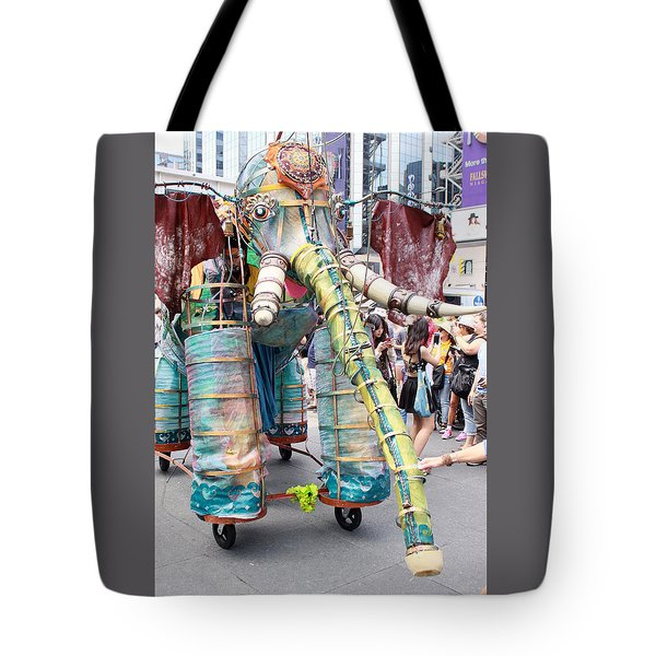 Elephant Support For Busker Fest Tote Bag