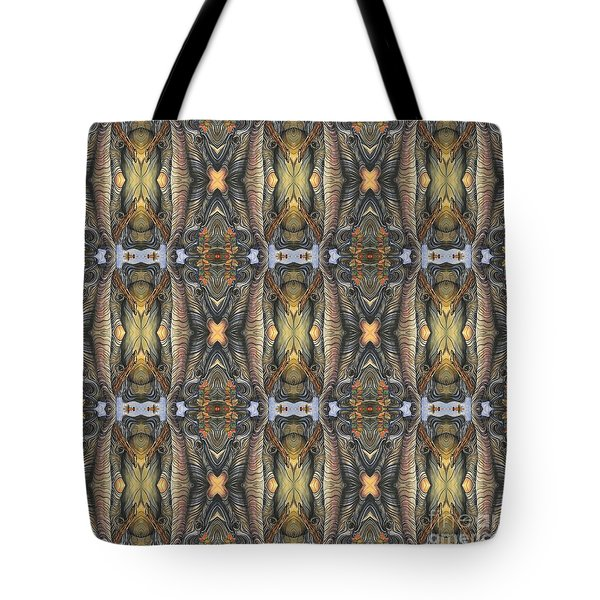 Elephant With Branch Pattern 1 Tote Bag