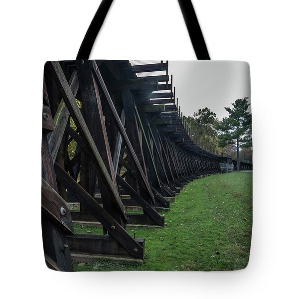 Harpers Ferry Elevated Railroad Tote Bag