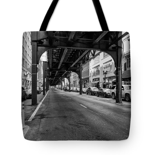 Elevated Train Track The Loop In Chicago, Il Tote Bag
