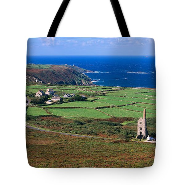 Elevated View Of Fields And The West Tote Bag