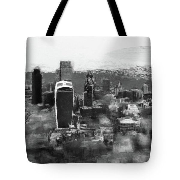 Elevated View Of London Tote Bag by Gillian Dernie
