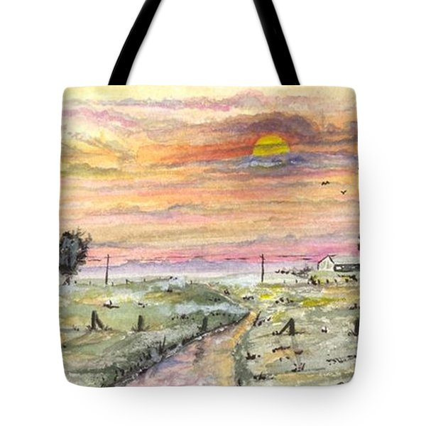 Tote Bag featuring the digital art Elevator In The Sunset by Darren Cannell