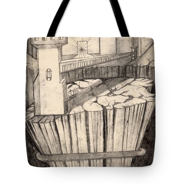 Elevator To Heaven Tote Bag