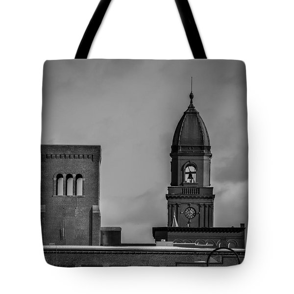 Eleven Twenty Says The Clock In The Tower Tote Bag by Bob Orsillo