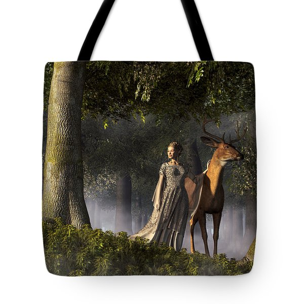Elf And Buck Tote Bag