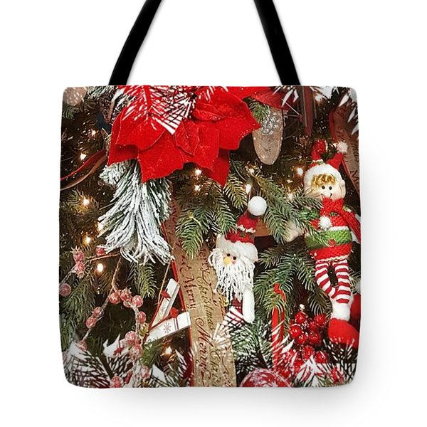 Elf In A Tree Tote Bag