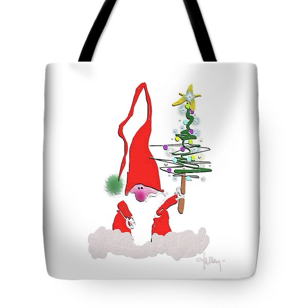 Tote Bag featuring the mixed media Elf  by Larry Talley