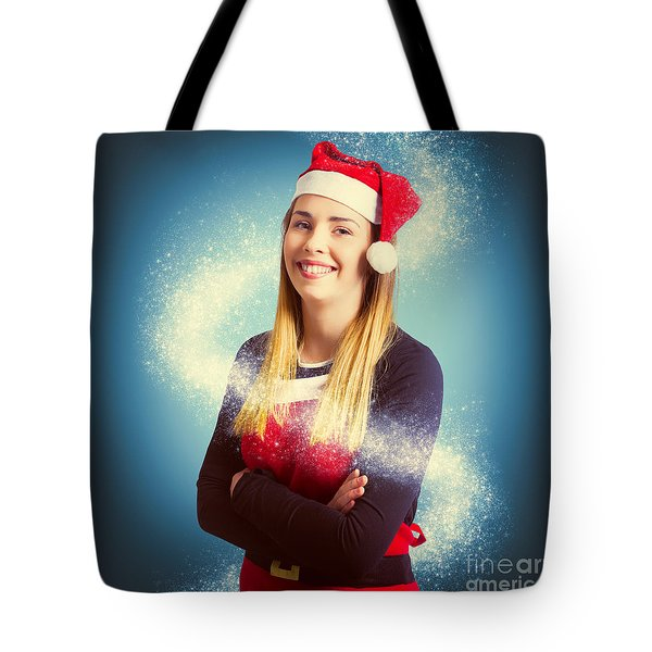Elf Wrapped Up In The Magic Of Christmas Tote Bag
