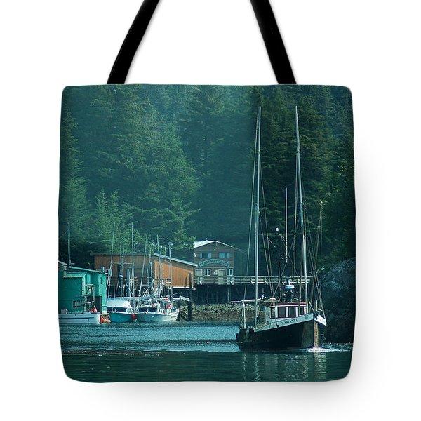 Elfin Cove Alaska Tote Bag