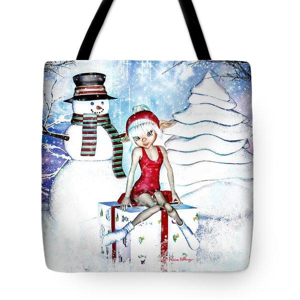Elfin Winter Holidays Tote Bag