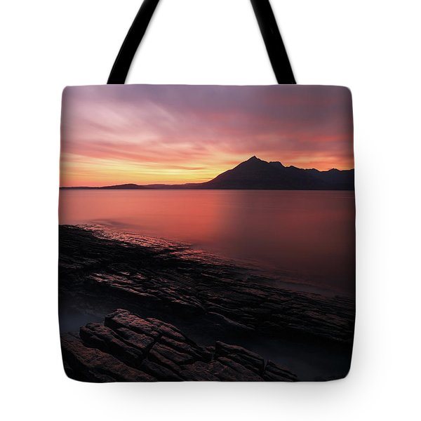 Elgol Sunset - Isle Of Skye Tote Bag by Grant Glendinning