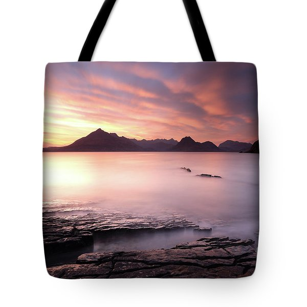 Elgol Sunset Tote Bag