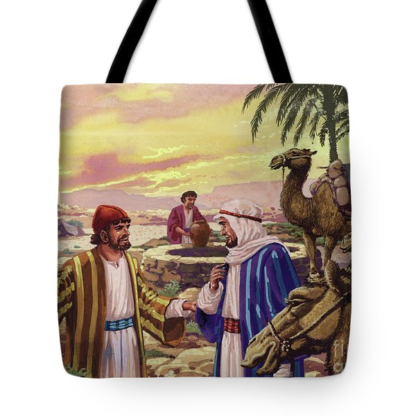 Eliezer Arriving At The Well  Tote Bag