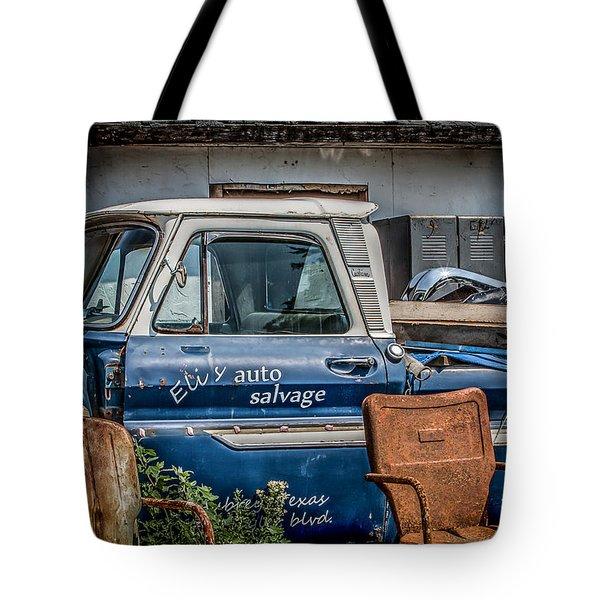 Eli's Auto Salvage Tote Bag