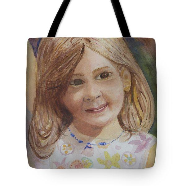 Tote Bag featuring the painting Elizabeth by Donna Walsh