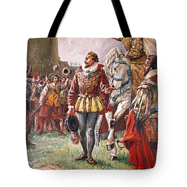 Elizabeth I The Warrior Queen Tote Bag by CL Doughty