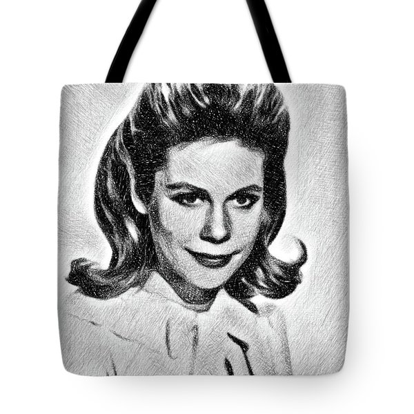 Elizabeth Montgomery, Vintage Actress By Js Tote Bag