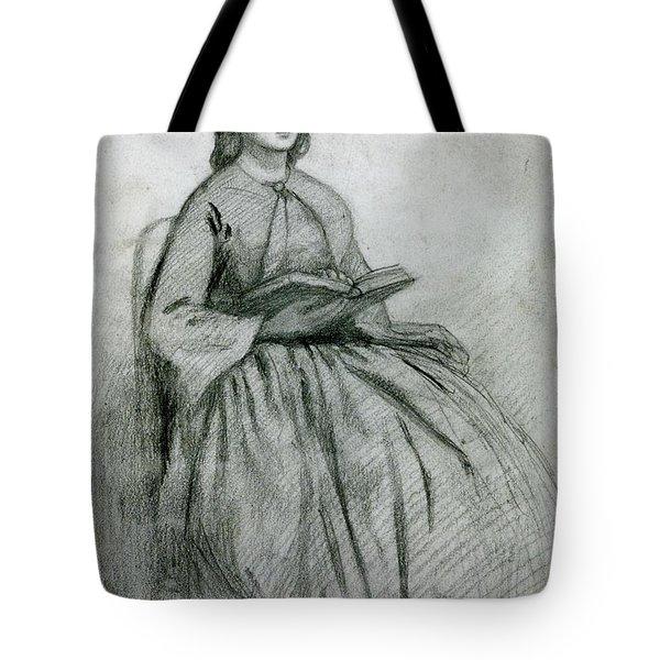 Elizabeth Siddall In A Chair Tote Bag by Gabriel Rossetti