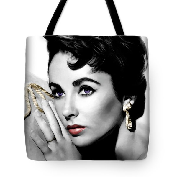 Elizabeth Taylor Portrait Tote Bag by Gabriel T Toro
