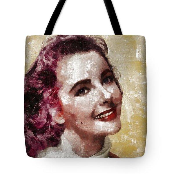 Elizabeth Taylor, Vintage Hollywood Legend By Mary Bassett Tote Bag
