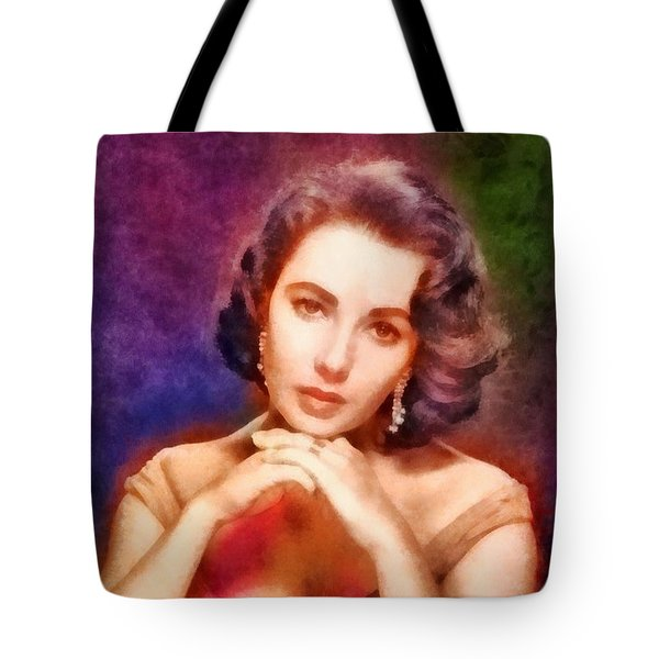 Elizabeth Taylor, Vintage Hollywood Legend Tote Bag by Frank Falcon