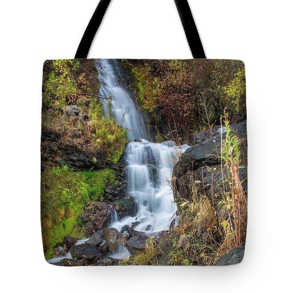 Elk Creek Waterfall Waterscape Art By Kaylyn Franks Tote Bag
